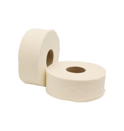 Virgin Pulp 2-ply Embossed Jumbo Roll Tissue - 85mm x 130m - 12rolls