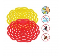 Urinal Pad - Cool Lemon Yellow & Sherwin Red