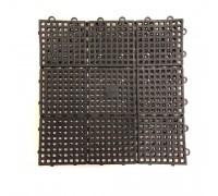 1ft x 1ft A Mat Black Interlocking