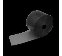 Flat Clear Black PVC Strip Roll 200mm x 2mm x 50m