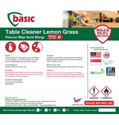 McQwin Basic Table Cleaner Lemon Grass - 10L