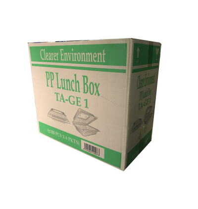 TA-GE 1 PP LUNCH BOX- 600PCS