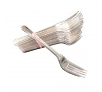 "7"" Heavy Duty Spoon/Fork (Clear) - 2000PCS"