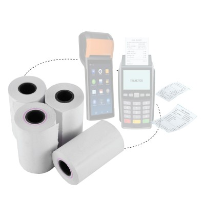 Credit Card Thermal Paper Roll 57mm x 15metre 48gsm 100rolls (Same with 57 x 40)