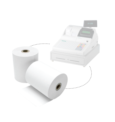 Cash Registry Thermal Paper Roll 57mm x 27metre 48gsm 100rolls (Same with 57 x 60)