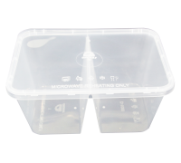 CB 1000 D 2 Compartment Food Container with Lid - 500PCS