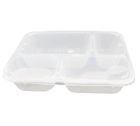 MS1200 QC 4 Compartment Food Container with Lid - 300PCS