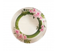 "9"" Paper Plate Design (Flower side) - 1500PCS"