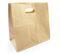 "Paper Bag With Hole Handle (11"" X 11"" X 6"") - 500PCS"