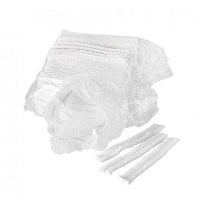Disposable Clip Cap (Hair Net) (White) - 2000PCS