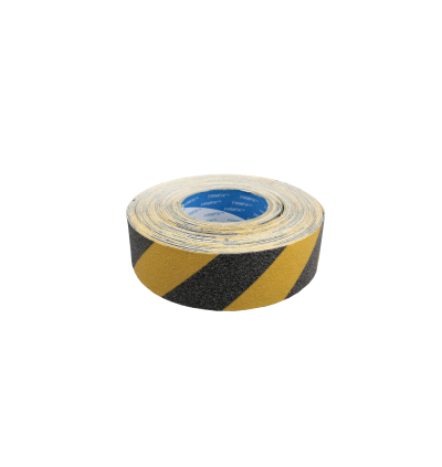 Anti-Slip Tape Hazard Yellow & Black - Outdoor Grade 25mm x 18m