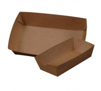 Plain Paper Boat Tray (Small/Large) - 500PCS